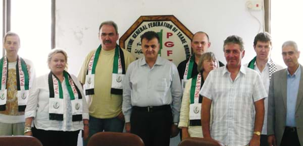 Representatives on the Palestine solidarity campaign.
