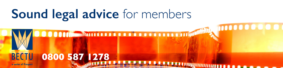 Orange film to represent the sound legal advice that BECTU union offers members.