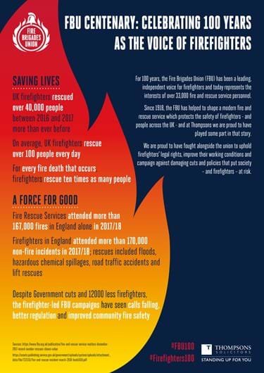 The FBU Centenary and Thompsons Solicitors | Thompsons Trade